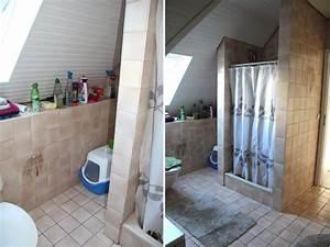 Bad Renovieren Fliesen überkleben : badezimmer selbst renovieren vorher nachher design dots ~ Frokenaadalensverden.com Haus und Dekorationen