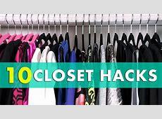 10 Closet Organization Hacks! Closet Organization Tips