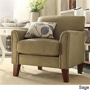 tribecca home furniture uptown modern accent chair microfiber rings n rollers