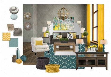 Teal Gold Living Room Ideas by Teal And Gold Great Room By Createhome Olioboard