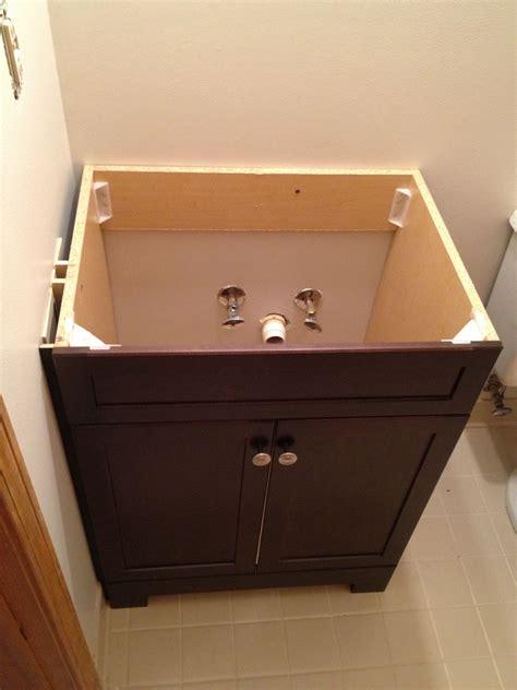 replace  install  bathroom vanity