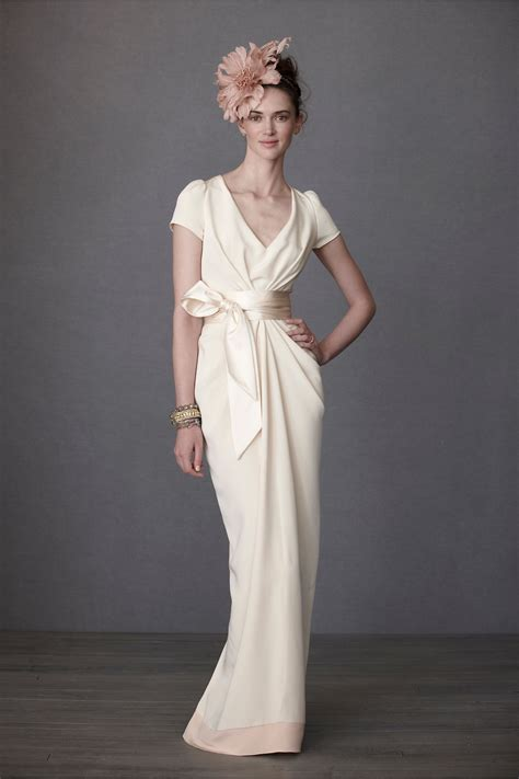 Bhldn Crepe De Chine Column Gown Size 6 Wedding Dress