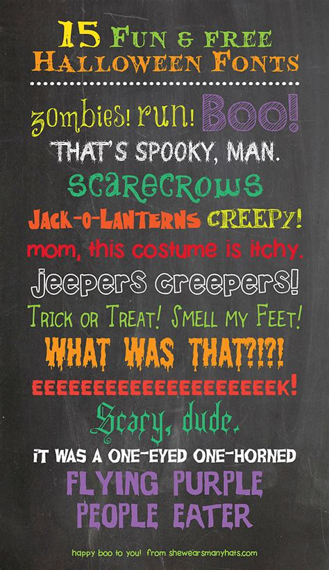 fun   halloween fonts