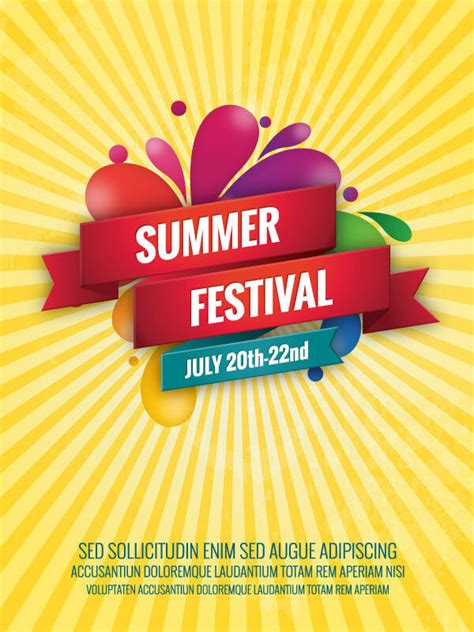 summer poster template  freevectors