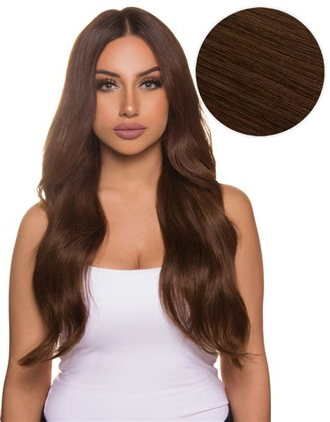 Chocolate Brown Hair by Bambina 160g 20 Chocolate Brown Hair Extensions 4