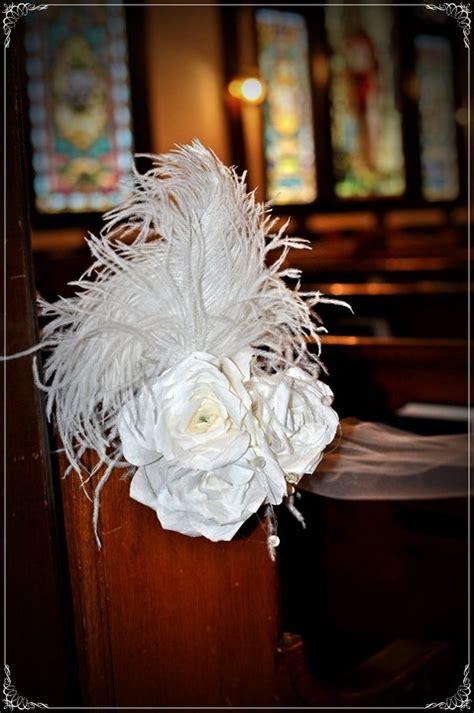 Feathered Wedding Decorations Church Pew Wedding