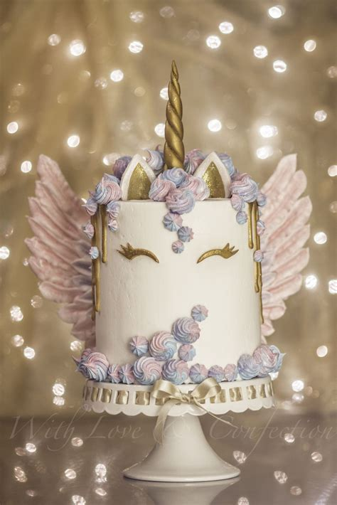 unicorn cake  meringue wings  veronica arthur