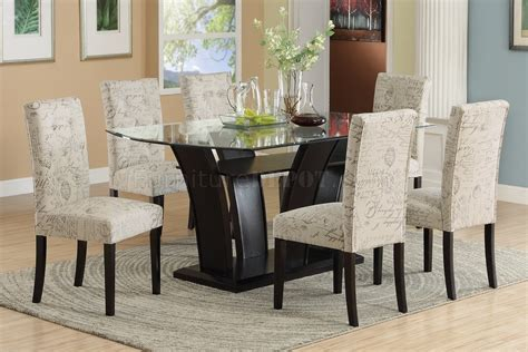 f2153 dining set 5pc in dark brown by poundex w f1093 chairs