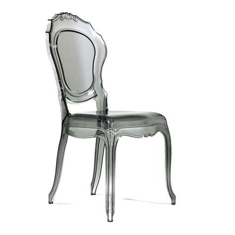 chaises polycarbonate chaise design en polycarbonate style régence