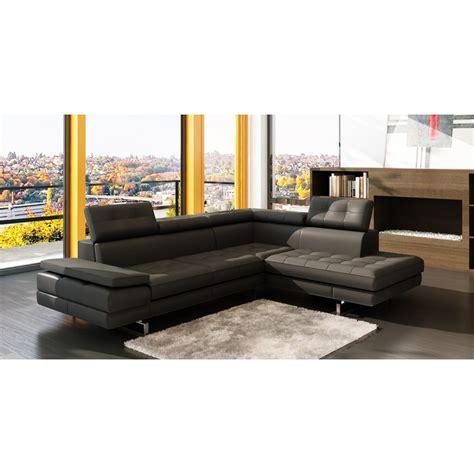 canap駸 d angle design canape d angle en cuir canap d 39 angle gauche cuir noir hudson decoration salon