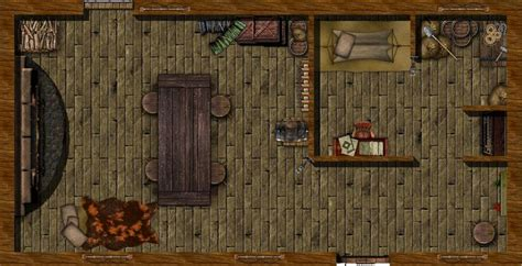 pin  glenn wallace  rpg maps dungeon maps map cabin