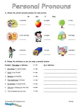 personal pronouns worksheet personal pronouns personal