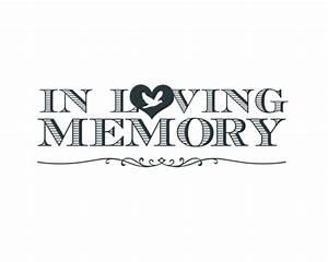 In Loving Memory Word Art
