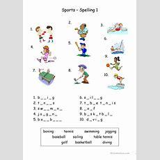 Sports  Spelling Worksheet  Free Esl Printable Worksheets Made By Teachers