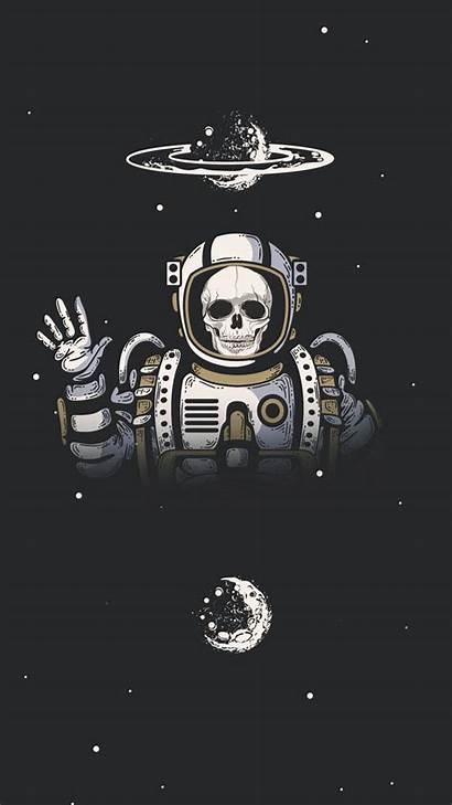 Skeleton Space Astronaut Planet Skull Galaxy Dream