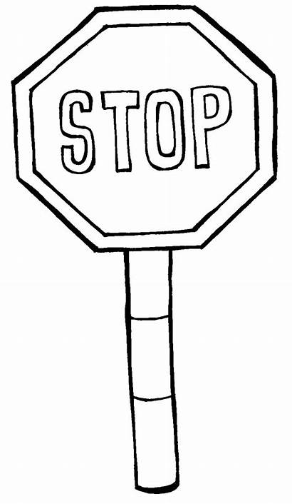 Stop Coloring Sign Signs Pages Printable Safety