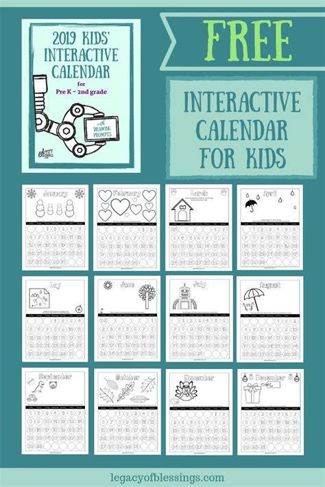 interactive calendar kids homeschool ideas kids