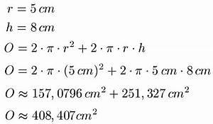 Oberfläche Berechnen Formel : oberflache berechnen oberflache zylinder oberflachen und volumen kugel beispiel oberflche ~ Themetempest.com Abrechnung
