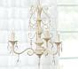 pink alyssa flush mount chandelier pottery barn