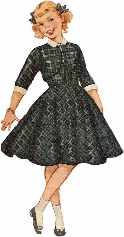 Printable Ad Retro 1955 Dresses Digital Printables