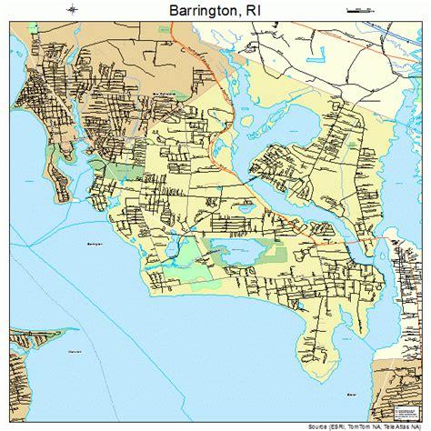 barrington rhode island street map