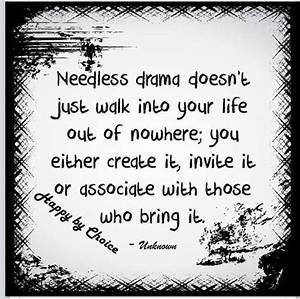 Needless drama ... Needless Worry Quotes