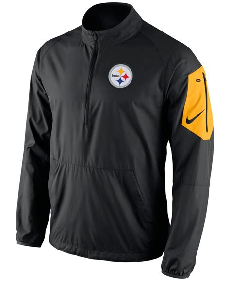 Nike Menu0026#39;s Pittsburgh Steelers Lockdown Half-zip Jacket in Black for Men | Lyst