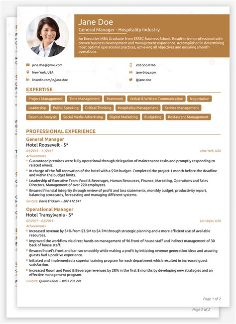 modern curriculum vitae templates collection exle
