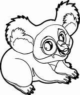Coloring Marsupial Koala Animal Easy Printable Sheets Ingrahamrobotics Designlooter sketch template