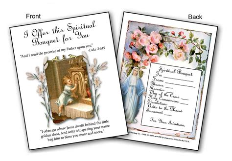 gifts for priests christmas spiritual bouquet cards gt greeting cards
