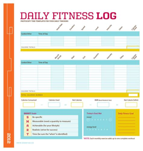 simple workout log template