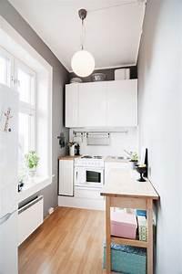 Table Cuisine étroite : petite cuisine moderne quels meubles de cuisine ouverte ~ Teatrodelosmanantiales.com Idées de Décoration