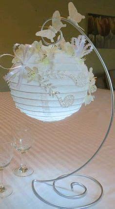 paper lanterns decorated  silk flowers