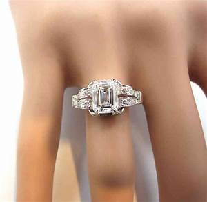Best emerald cut engagement rings wedding and bridal for Best wedding band for emerald cut engagement ring