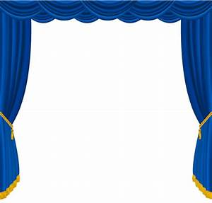 Clip art blue curtains clipart clipart suggest for Blue theatre curtains png