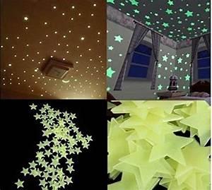 Leuchtsterne Für Kinderzimmer : diy selbstklebende leuchtsterne sterne sternenhimmel 100 leuchtsterne wandtattoo wanddeko ~ Sanjose-hotels-ca.com Haus und Dekorationen