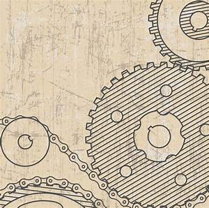 Technical Drawing.background With Gears.style Grunge Stock ...