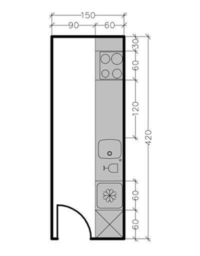 plan de cuisine en ligne 13 plans pour une cuisine fermée de 3 à 9 m2 côté maison