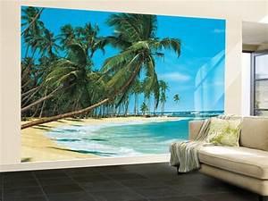 Poster Mural 3d : south sea beach landscape wall mural wallpaper mural at ~ Teatrodelosmanantiales.com Idées de Décoration
