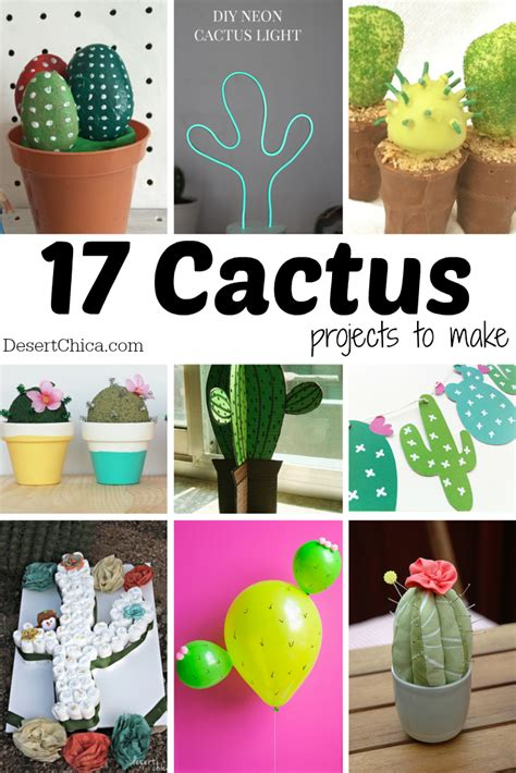 17 Cute Diy Cactus Projects To Make  Desert Chica