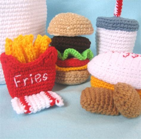 crochet cuisine 324 best play food images on play food crochet food and
