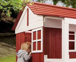 Kinder Holzhaus Garten : holz kinder spielhaus ida schwedenhaus holzhaus gartenhaus haus kinderhaus rot spielhaus ~ Frokenaadalensverden.com Haus und Dekorationen