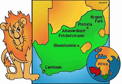 Africa Map Countries South Cartoon Geography Games