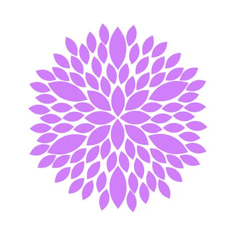 free flower clipart purple flower clip free images at clker vector