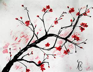 Love these bird silhouettes with the cherry blossoms ...