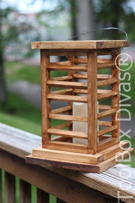 diy wooden lantern     bought  wooden