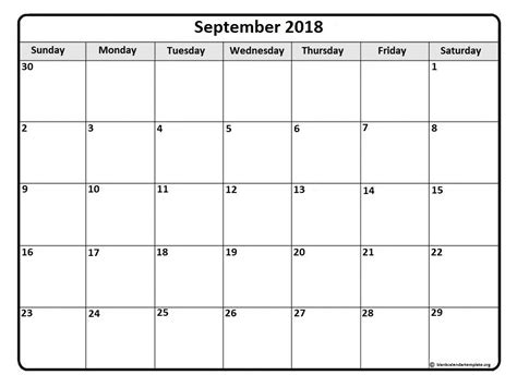 calendar template september september 2018 calendar 51 calendar templates of 2018 calendars