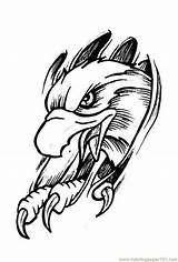 Coloring Pages Cool Designs Tattoo Printable Eagle Popular sketch template