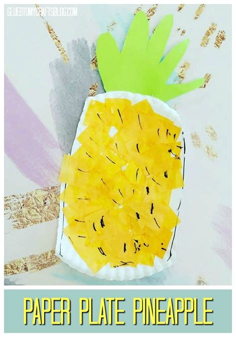 paper plate pineapple kid craft family activities 590 | 10c2ef1967c250cf7c5540e2a949295a