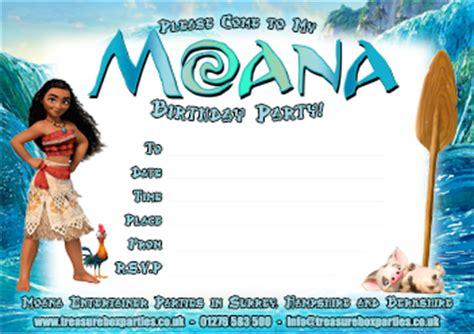 moana printable party invitation childrens